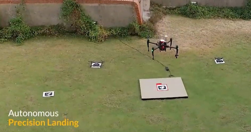 precision landing for security applications