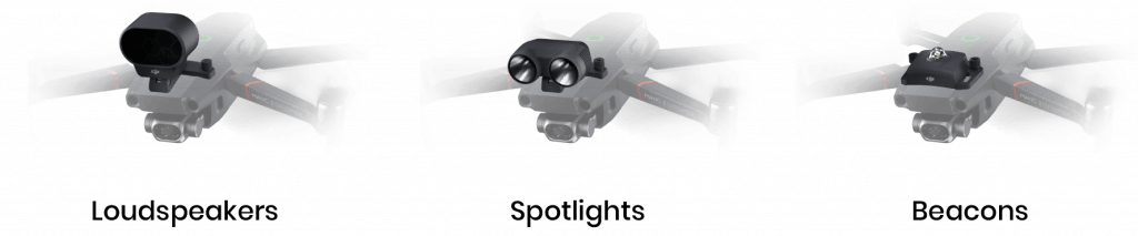 drone payloads for fire fighting