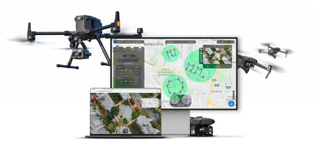 Self charging security drone software